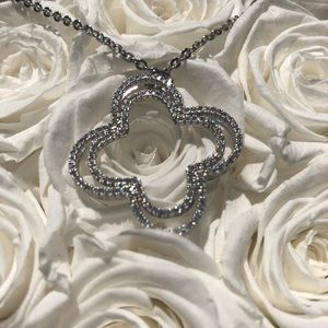 Jewelry - Beautiful silver necklace with lucky pendent.